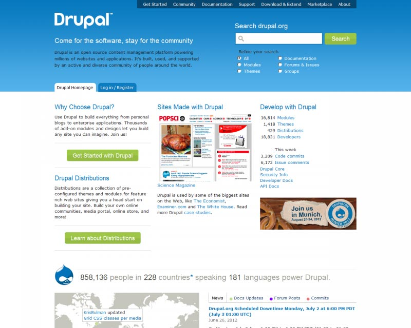 Introduction to the Drupal Content Management System