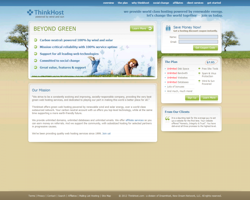 Thinkhost Web Hosting Review